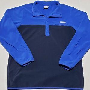 Columbia Fleece Snap Button Sweater Pullover EUC